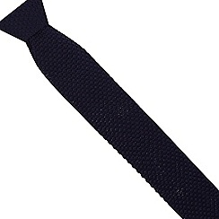 Jeff Banks - Designer dark blue knitted skinny tie