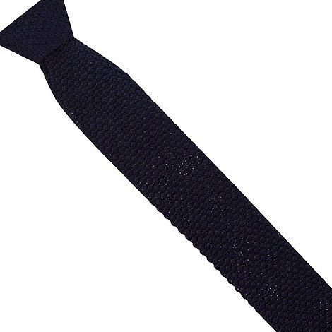 Jeff Banks - Designer dark blue knitted skinny tie