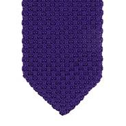 Designer purple knitted skinny tie