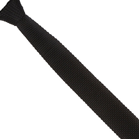 Jeff Banks - Designer black knitted skinny tie