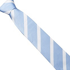 Jeff Banks - Designer light blue textured diagonal striped tie