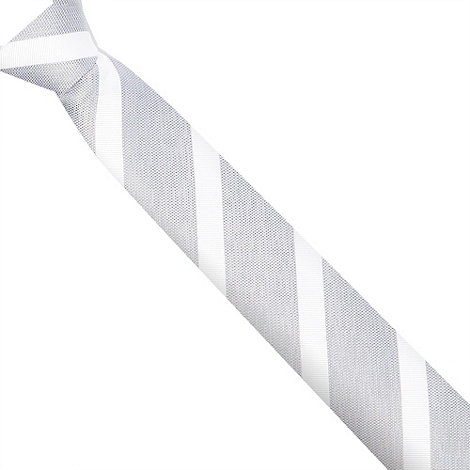 Jeff Banks - Designer grey textured diagonal striped tie
