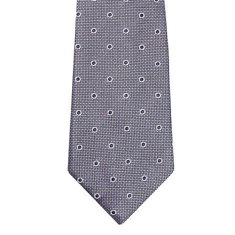 Jeff Banks - Designer blue raised polka dot tie
