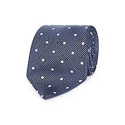 J by Jasper Conran - Designer navy dotted jacquard silk tie