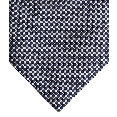 J by Jasper Conran - Designer navy cross patterned fine silk tie