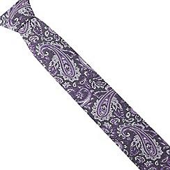 St George by Duffer - Purple paisley tie