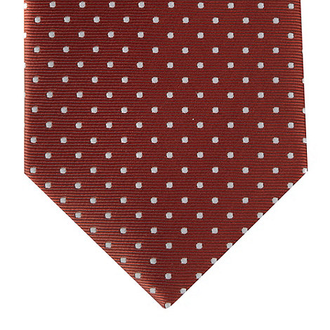 St George by Duffer - Red dotted slim tie