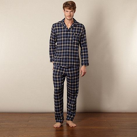 Maine New England - Navy grid checked pyjama set