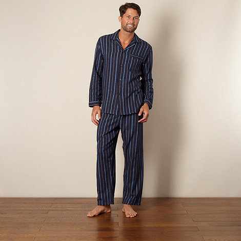Maine New England - Navy striped brushed cotton pyjama set