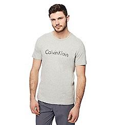Calvin Klein - Grey logo print t-shirt