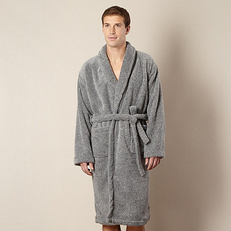 Maine New England - Grey marled fleece dressing gown