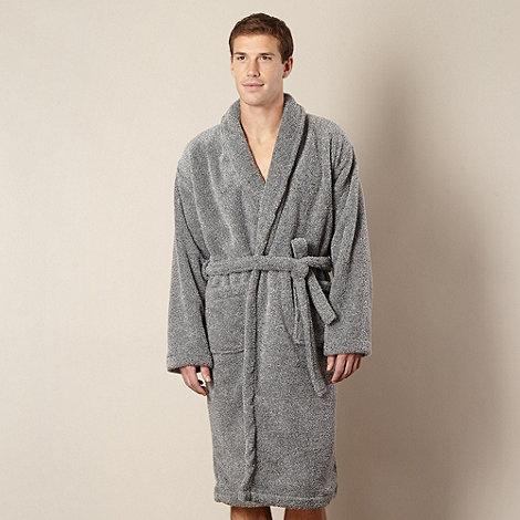 Maine New England - Grey marled fleece dressing gown