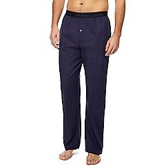 Calvin Klein - Navy checked pyjama bottoms