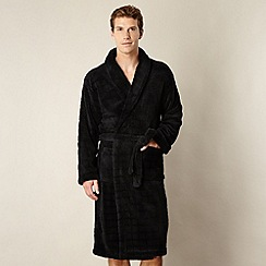 J by Jasper Conran - Designer black fleece dressing gown