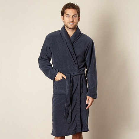 Maine New England - Blue stripe texture dressing gown