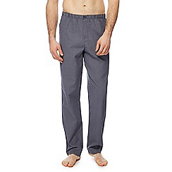 Calvin Klein - Navy mini checked slim fit pyjama bottoms