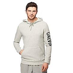 Calvin Klein - Grey logo print hoodie