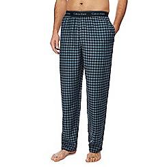 Calvin Klein - Black woven check pyjama bottoms