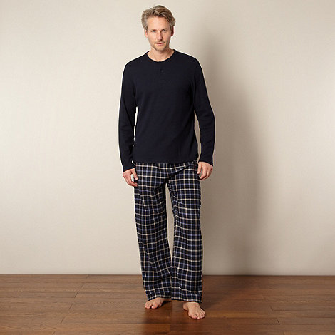 Maine New England - Navy checked pyjama set