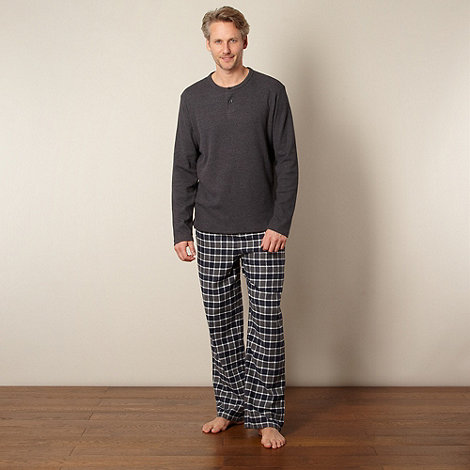 Maine New England - Grey checked pyjama set
