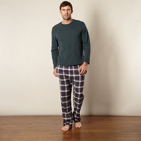 Maine New England - Dark green checked pyjama set