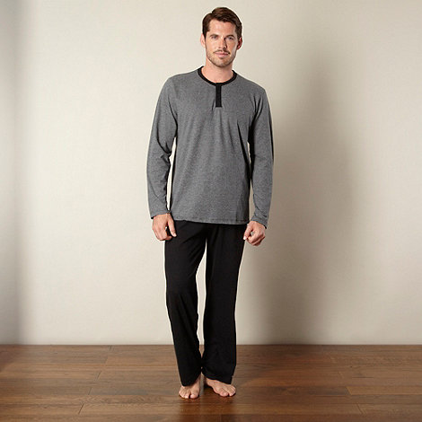 Maine New England - Grey striped top and bottoms loungewear set