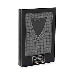 Hammond & Co. by Patrick Grant - Big and tall grey checked pyjama set