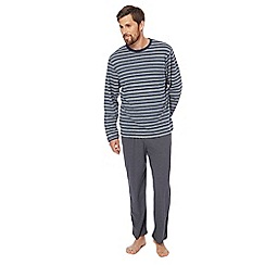 Maine New England - Big and tall blue striped print pyjama set