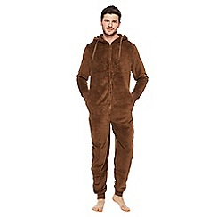 Mantaray - Big and tall dark brown monkey onesie