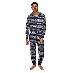 Mantaray - Navy Fair Isle knit onesie