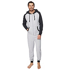 Mantaray - Grey quilted onesie