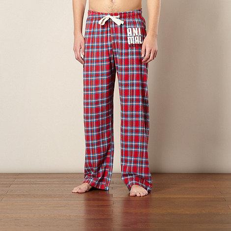 Animal - Red checked pyjama bottoms