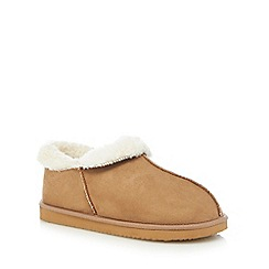 RJR.John Rocha - Tan fleece lined short slipper boots