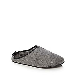 RJR.John Rocha - Grey wool mule slippers