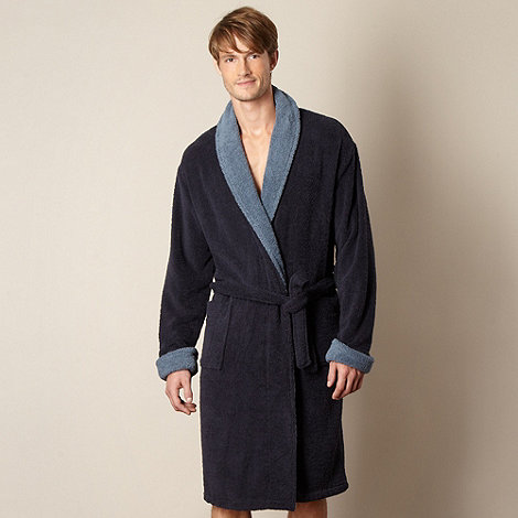 RJR.John Rocha - Designer navy towelling gown