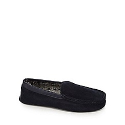 Hammond & Co. by Patrick Grant - Navy suede moccasin slippers
