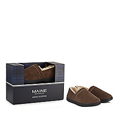 Maine New England - Beige slippers in a gift box