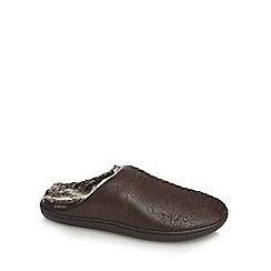 Totes - Brown mule slippers