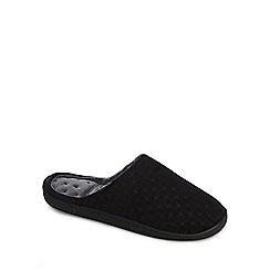 Totes - Black mule slippers