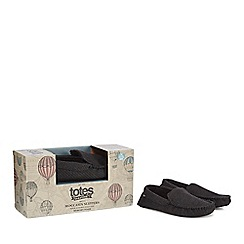 Totes - Dark grey moccasin slippers