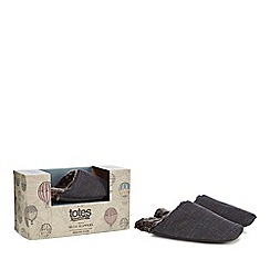 Totes - Grey mule slippers