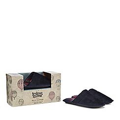 Totes - Navy mule slippers