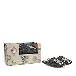 Totes - Dark grey mule slippers