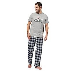 Mantaray - Grey checked pyjama set