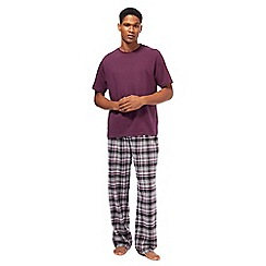 Maine New England - Dark purple checked loungewear set