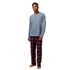 Maine New England - Big and tall red checked print loungewear set