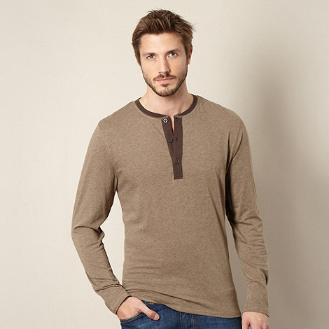 RJR.John Rocha - Designer taupe button neck top