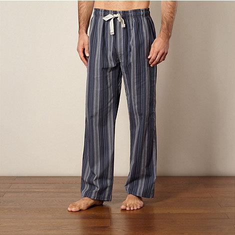 RJR.John Rocha - Designer navy multi striped pyjama bottoms