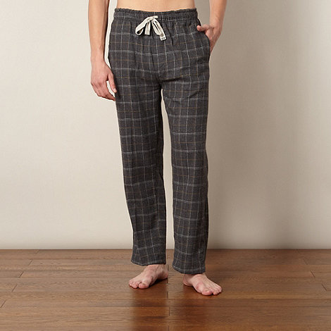 RJR.John Rocha - Designer grey grid checked loungewear bottoms