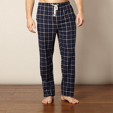 RJR.John Rocha - Designer navy checked pyjama bottoms